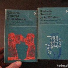 Libros de segunda mano: ROBERTSON, A. Y STEVENS, D: HISTORIA GENERAL DE LA MÚSICA (TOMOS I Y II. Lote 117652883
