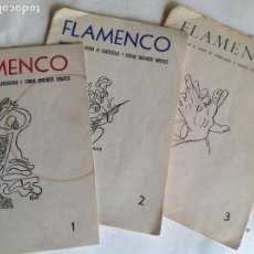 Libros de segunda mano: LOS TRES PRIMEROS NUMEROS DE FLAMENCO REVISTA CATEDRA FLAMENCOLOGIA. JEREZ 1960.. Lote 117851367