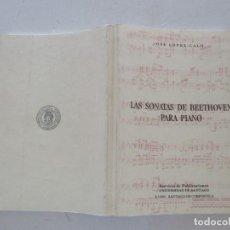 Libros de segunda mano - JOSÉ LÓPEZ-CALO Las sonatas de Beethoven para piano. RMT86392 - 121892447