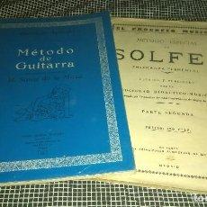 Libros de segunda mano: MÉTODO SOLFEO (2ª PARTE) Y MÉTODO DE GUITARRA DE AGUADO. BUENA CONSERVACIÓN. Lote 121926511