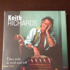 Libros de segunda mano: KEITH RICHARDS. UNA VIDA DE ROCK AND ROLL. ED. BLUME. 36 FOTOS. INFORMACIÓN DETALLADA.. Lote 125836275