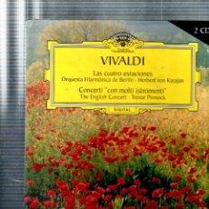 Libros de segunda mano: VIVALDI. LAS CUATRO ESTACIONES. GRAN SELECCION. DEUTSCHE GRAMMOPHON. 200. CONTIENE 2 CD.. Lote 126950499