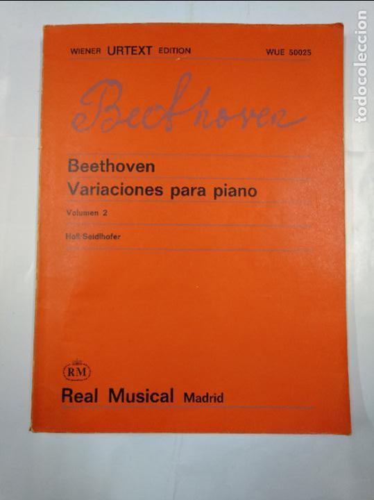 VARIACIONES PARA PIANO. VOLUMEN 2. BEETHOVEN. HOLL. SIEDLHOFER. REAL MUSICAL MADRID. ARM10 (Libros de Segunda Mano - Bellas artes, ocio y coleccionismo - Música)