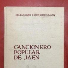 Libros de segunda mano: CANCIONERO POPULAR DE JAÉN , AÑO 1972 ,. Lote 127954363
