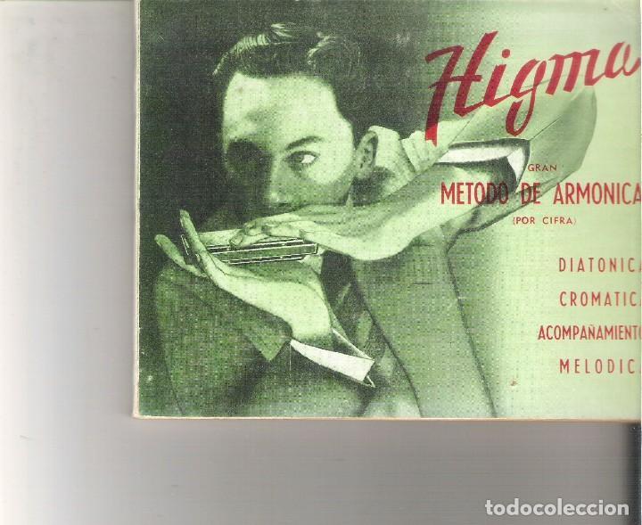 1 ANTIGUO LIBRO AÑO 1975 - GRAN METODO DE ARMONICA - HIGMA - POR CIFRA (Libros de Segunda Mano - Bellas artes, ocio y coleccionismo - Música)