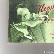 Libros de segunda mano: 1 ANTIGUO LIBRO AÑO 1975 - GRAN METODO DE ARMONICA - HIGMA - POR CIFRA. Lote 135361054