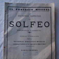Libros de segunda mano - metodo especial de Solfeo. Enseñanza elemental. Primera parte. - 137611310