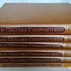 Libros de segunda mano: LOS GRANDES COMPOSITORES 6 TOMOS SALVAT COMPLETA-VER FOTOS. Lote 139225602