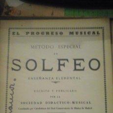 Libros de segunda mano - EL PROGRESO MUSICAL. METODO ESPECIAL DE SOLFEO ENSEÑANZA ELEMENTAL. Parte Segunda (Madrid, 1959) - 141125906