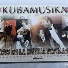 Libros de segunda mano: KUBAMUSIKA-IMÁGENES DE LA MÚSICA POPULAR CUBANA-ED ATLÁNTICA-MUY ILUSTRADO-LIBRO NUEVO. Lote 141956174
