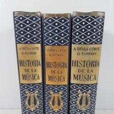 Libros de segunda mano: HISTORIA DE LA MÚSICA. 3 TOMOS. A.DELLA CORTE / G.PANNAIN. EDIT LABOR. BARCELONA. 1965. . Lote 142435530