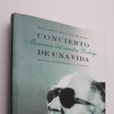 Libros de segunda mano - CONCIERTO DE UNA VIDA - 145723348