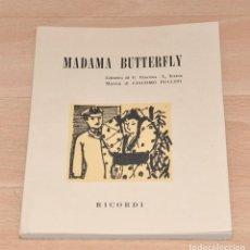 Libros de segunda mano: LIBRETO DE LA OPERA MADAMA BUTTERFLY. Lote 146695526