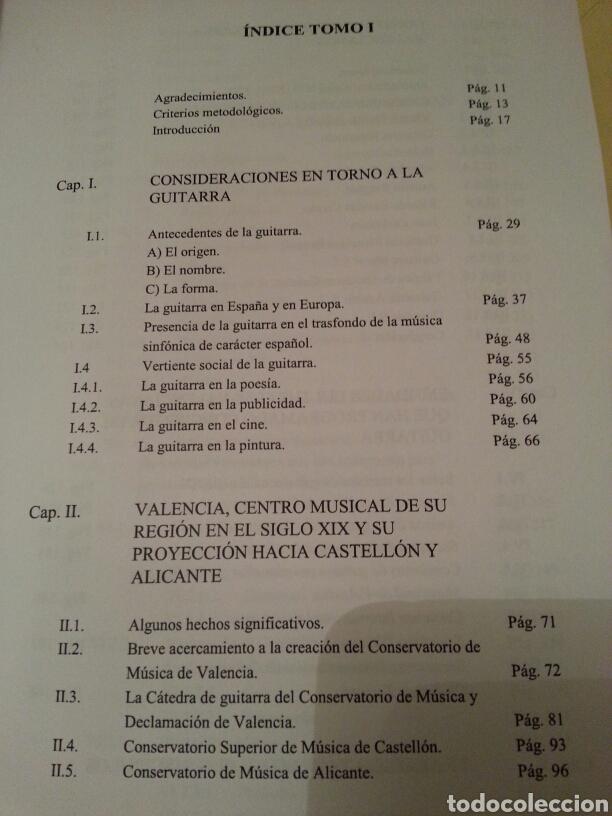 Libros de segunda mano: LA GUITARRA CLÁSICA Y SU CONTEXTO DENTRO DE LA COMUNIDAD VALENCIANA EN EL SIGLO XX. 2 TOMOS - Foto 4 - 147534572