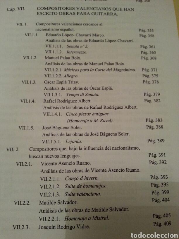Libros de segunda mano: LA GUITARRA CLÁSICA Y SU CONTEXTO DENTRO DE LA COMUNIDAD VALENCIANA EN EL SIGLO XX. 2 TOMOS - Foto 7 - 147534572