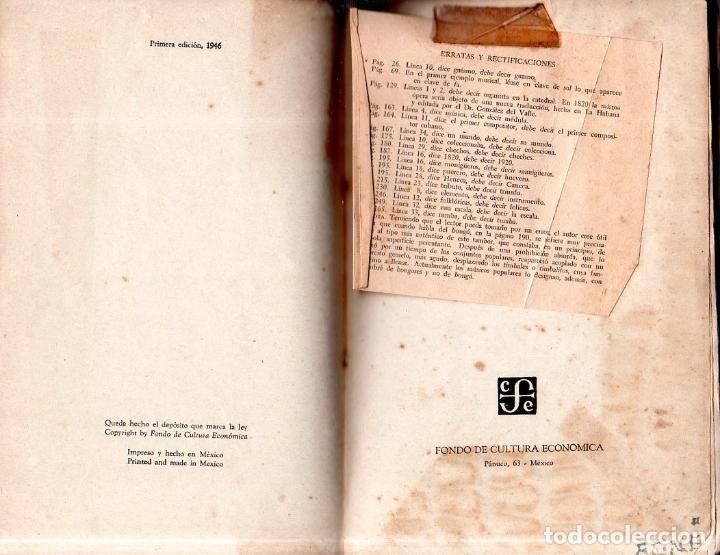 Libros de segunda mano: LA MÚSICA EN CUBA. ALEJO CARPENTIER. CON DEDICATORIA Y FIRMA DEL AUTOR. FONDO DE CULTURA. 1960. - Foto 2 - 147829226