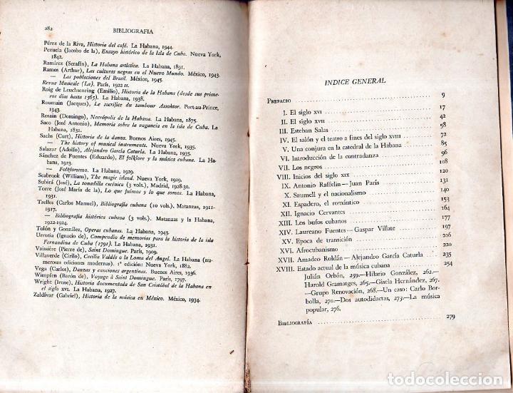 Libros de segunda mano: LA MÚSICA EN CUBA. ALEJO CARPENTIER. CON DEDICATORIA Y FIRMA DEL AUTOR. FONDO DE CULTURA. 1960. - Foto 5 - 147829226