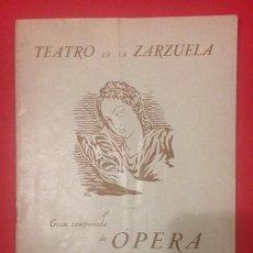 Libros de segunda mano: TEATRO DE LA ZARZUELA, 1940-41 . Lote 149302798