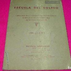 Libros de segunda mano: ESCUELA DE SOLFEO, MUSICAL EMPORIUM I LLOBET Y C.º S. C. 1980, LIBRO I.. Lote 153252142