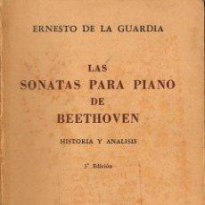 Libros de segunda mano: LAS SONATAS PARA PIANO DE BEETHOVEN, VER INDICES. Lote 153554318