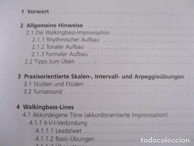 Libros de segunda mano: Im Walking - Jazz Bass. Mit CD: Für Kontrabass und Bassgitarre (COMO NUEVO) EN ALEMAN - Foto 8 - 157871862