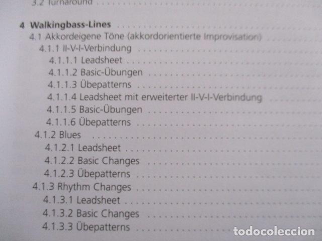 Libros de segunda mano: Im Walking - Jazz Bass. Mit CD: Für Kontrabass und Bassgitarre (COMO NUEVO) EN ALEMAN - Foto 9 - 157871862