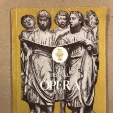 Libros de segunda mano: ABAO XXII FESTIVAL DE ÓPERA (1973). 4ª FUNCIÓN, ERNANI, G. VERDI.. Lote 158198786
