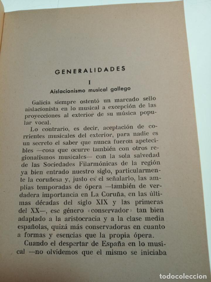 Libros de segunda mano: La música popular gallega. Rodrigo A. De Santiago. Firmado y dedicado. Imp. Roel. La Coruña. 1959. - Foto 4 - 159119874