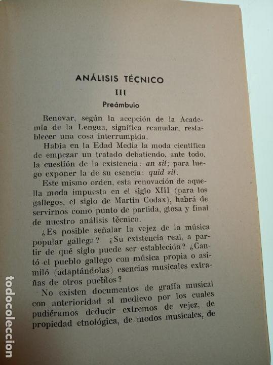 Libros de segunda mano: La música popular gallega. Rodrigo A. De Santiago. Firmado y dedicado. Imp. Roel. La Coruña. 1959. - Foto 5 - 159119874
