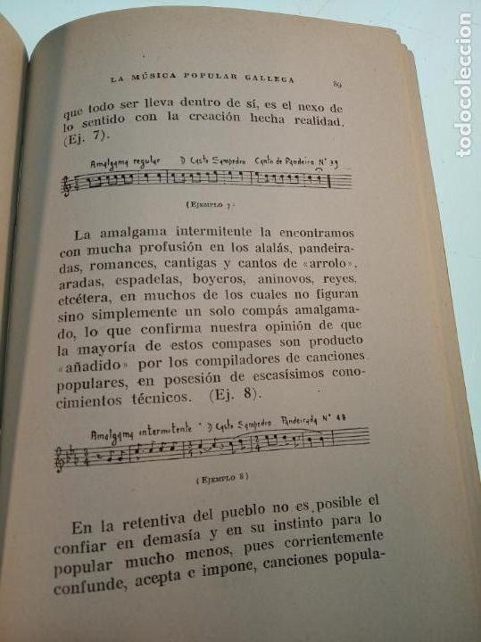 Libros de segunda mano: La música popular gallega. Rodrigo A. De Santiago. Firmado y dedicado. Imp. Roel. La Coruña. 1959. - Foto 6 - 159119874