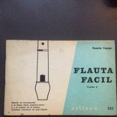 Libros de segunda mano: FLAUTA FÁCIL. VERSION B. RAMÓN CAMPS.. Lote 160175602