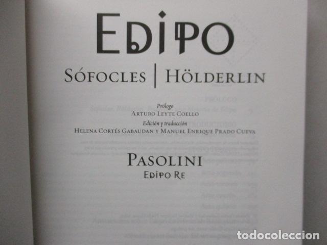 Libros de segunda mano: EDIPO. SÓFOCLES / HÖLDERLIN. EDICIÓN TRILINGÜE. PASOLINI: EDIPO RE - CON DVD - COMO NUEVO - Foto 5 - 160641866