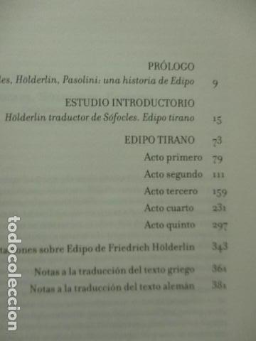 Libros de segunda mano: EDIPO. SÓFOCLES / HÖLDERLIN. EDICIÓN TRILINGÜE. PASOLINI: EDIPO RE - CON DVD - COMO NUEVO - Foto 6 - 160641866
