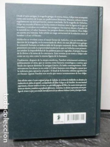 Libros de segunda mano: EDIPO. SÓFOCLES / HÖLDERLIN. EDICIÓN TRILINGÜE. PASOLINI: EDIPO RE - CON DVD - COMO NUEVO - Foto 9 - 160641866