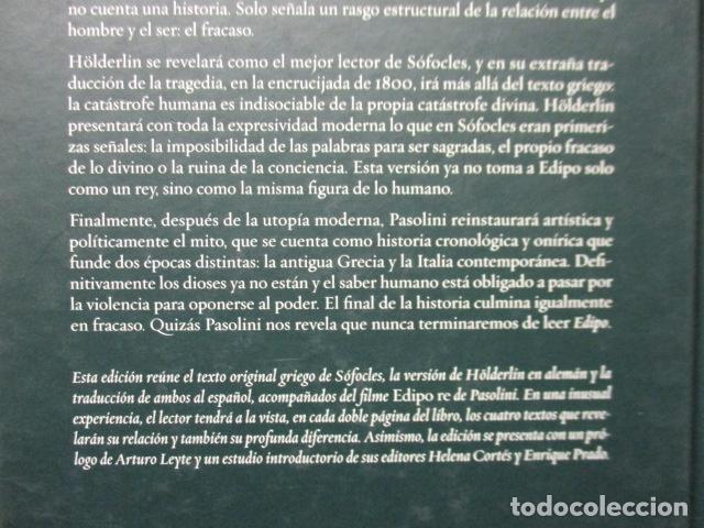 Libros de segunda mano: EDIPO. SÓFOCLES / HÖLDERLIN. EDICIÓN TRILINGÜE. PASOLINI: EDIPO RE - CON DVD - COMO NUEVO - Foto 11 - 160641866