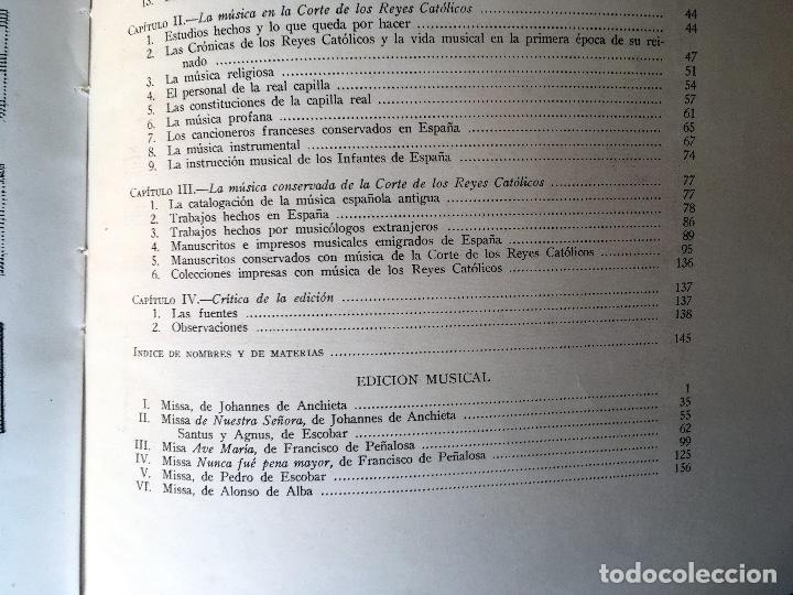 Libros de segunda mano: LA MUSICA EN LA CORTE DE LOS REYES CATÓLICOS - I.- POLIFONÍA RELIGIOSA - ANGLES - Foto 2 - 160678158