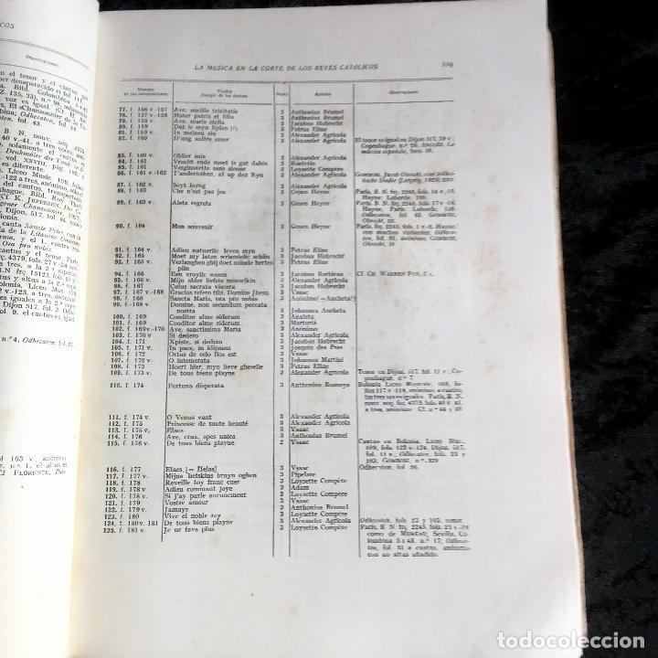 Libros de segunda mano: LA MUSICA EN LA CORTE DE LOS REYES CATÓLICOS - I.- POLIFONÍA RELIGIOSA - ANGLES - Foto 12 - 160678158