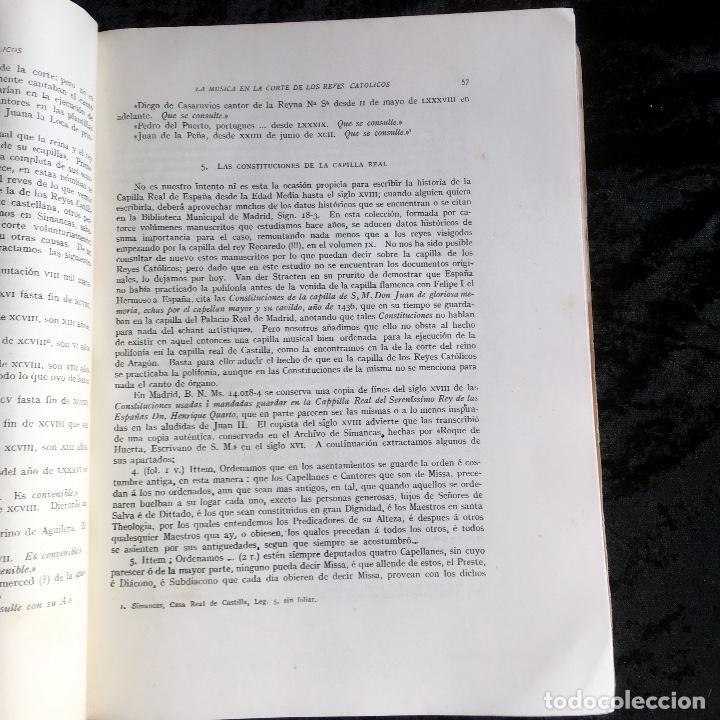 Libros de segunda mano: LA MUSICA EN LA CORTE DE LOS REYES CATÓLICOS - I.- POLIFONÍA RELIGIOSA - ANGLES - Foto 13 - 160678158