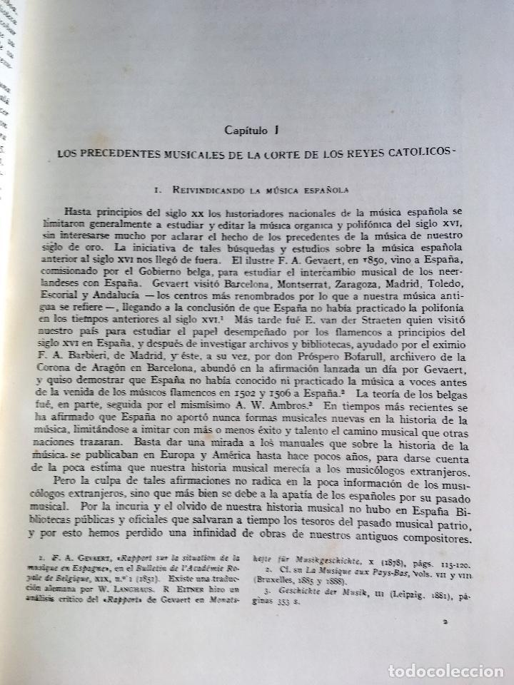 Libros de segunda mano: LA MUSICA EN LA CORTE DE LOS REYES CATÓLICOS - I.- POLIFONÍA RELIGIOSA - ANGLES - Foto 14 - 160678158