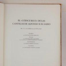 Libros de segunda mano: EL CÓDICE RICO DE LAS CANTIGAS DE ALFONSO X EL SABIO, FACSÍMIL, 1979, EDILAN, MADRID. 50X35CM. Lote 161756118