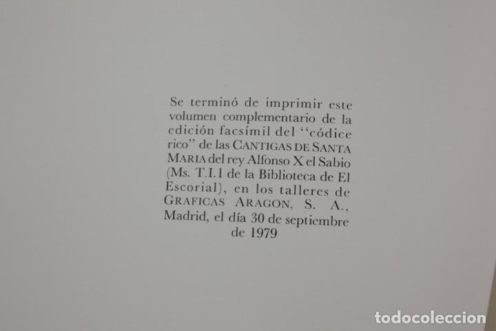 Libros de segunda mano: El códice rico de las cantigas de Alfonso X el sabio, facsímil, 1979, Edilan, Madrid. 50x35cm - Foto 11 - 161756118