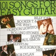 Libros de segunda mano: 101 SONGS FOR EASY GUITAR. BOOK 4. Lote 165917790