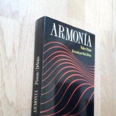 Libros de segunda mano: ARMONÍA / WALTER PISTÓN - REVISADA POR MARK DEVOTO / EDITORIAL LABOR: PRIMERA EDICIÓN, 1991. Lote 166404122