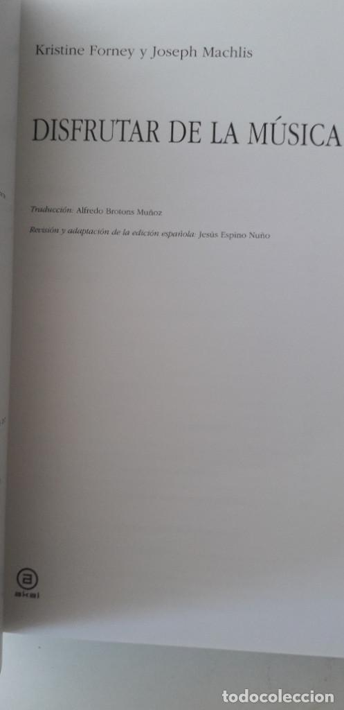 Libros de segunda mano: DISFRUTAR DE LA MUSICA (INCLUYE 2 CD) - KRISTINE FORNEY, JOSEPH MACHLIS - Foto 4 - 167941420