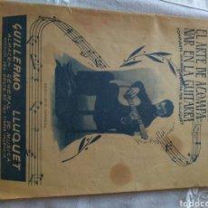 Libros de segunda mano: AMANTE DE LA GUITARRA ,LIBRO NUEVO MÉTODO PARA EL ARTE DE ACOMPAÑAR EN LA GUITARRA 1959. Lote 168084553