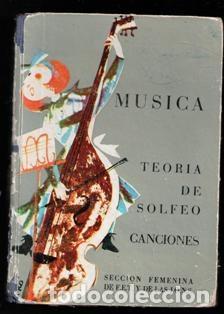 MUSICA. TEORÍA DE SOLFEO Y CANCIONES, MARÍA ANGELES R. CANDELA Y JUANA MONTERO (Libros de Segunda Mano - Bellas artes, ocio y coleccionismo - Música)