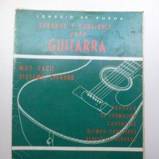 Libros de segunda mano: ACORDES Y CANCIONES PARA GUITARRA. DE RUEDA. Lote 171661817