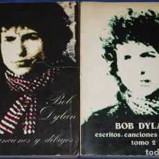 Libros de segunda mano: BOB DYLAN - ESCRITOS, CANCIONES Y DIBUJOS - EDICIONES CASTILLA (1975). Lote 172317582