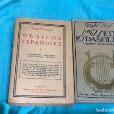 Libros de segunda mano: MUSICOS ESPAÑOLES. (COMPOSITORES Y DIRECTORES DE ORQUESTA ) DOS TOMOS . Lote 172566223