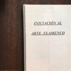 Libros de segunda mano: APUNTES DE INICIACIÓN AL ARTE FLAMENCO. Lote 173999299